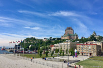 View of Château Frontenac from the harbor
